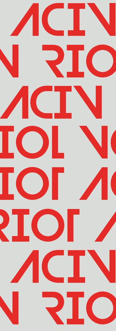 'ACIV RIOT' Orange Print