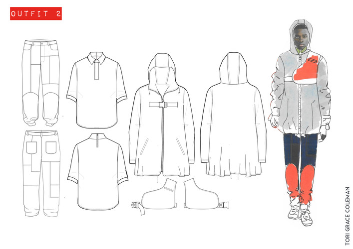 Outfit 2- Tech Drawings