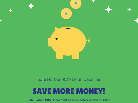 Safe Harbor 401(k) Deadline for 2020