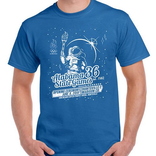 2018 Alabama State Games OPENING CEREMONY T-shirt