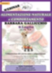 locandina 8.7.2020 ALIMENTAZIONE NATURAL