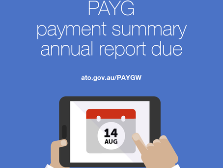 #TaxTipTuesday - PAYG annual payment summary report due today!