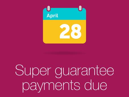 #TaxTipThursday - SGC payments are due 28th April!