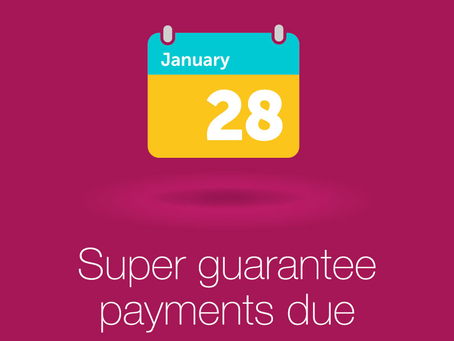#TaxTipThursday - SGC payments are due 28th January!