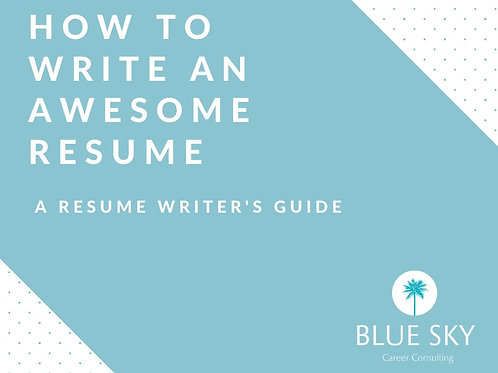 How To Write An Awesome Resume