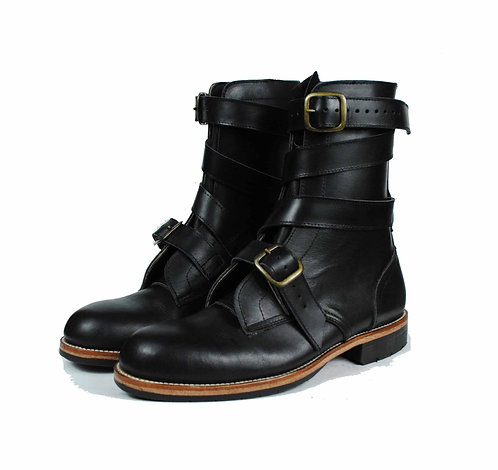 THOMPSON Black Leather TANKER Boots