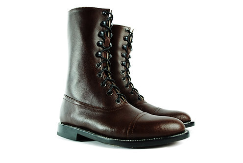 HESSE  Balmoral Dark Brown Leather  Boots