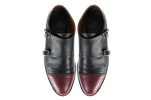 NIETZSCHE Women's Double MONK Shoes, Two Tone