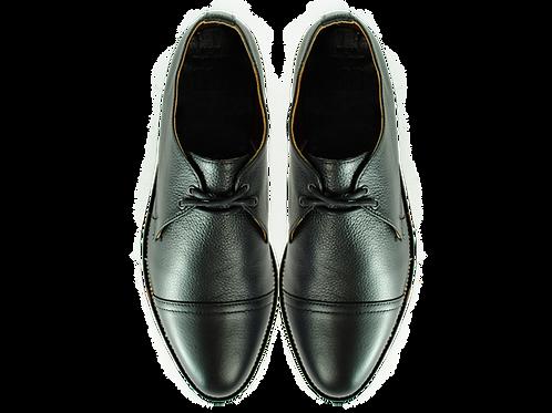 BAUDALAIRE Women's Black Leather Shoes