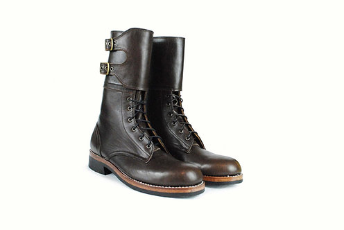 Double Buckle Military Combat Boots