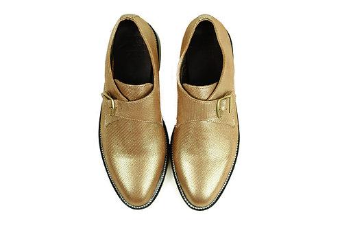 GINSBERG Women's  Metallic Golden Leather