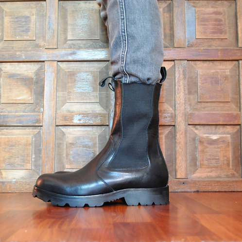 Tall Chelsea boot 2 pieces Black Leather