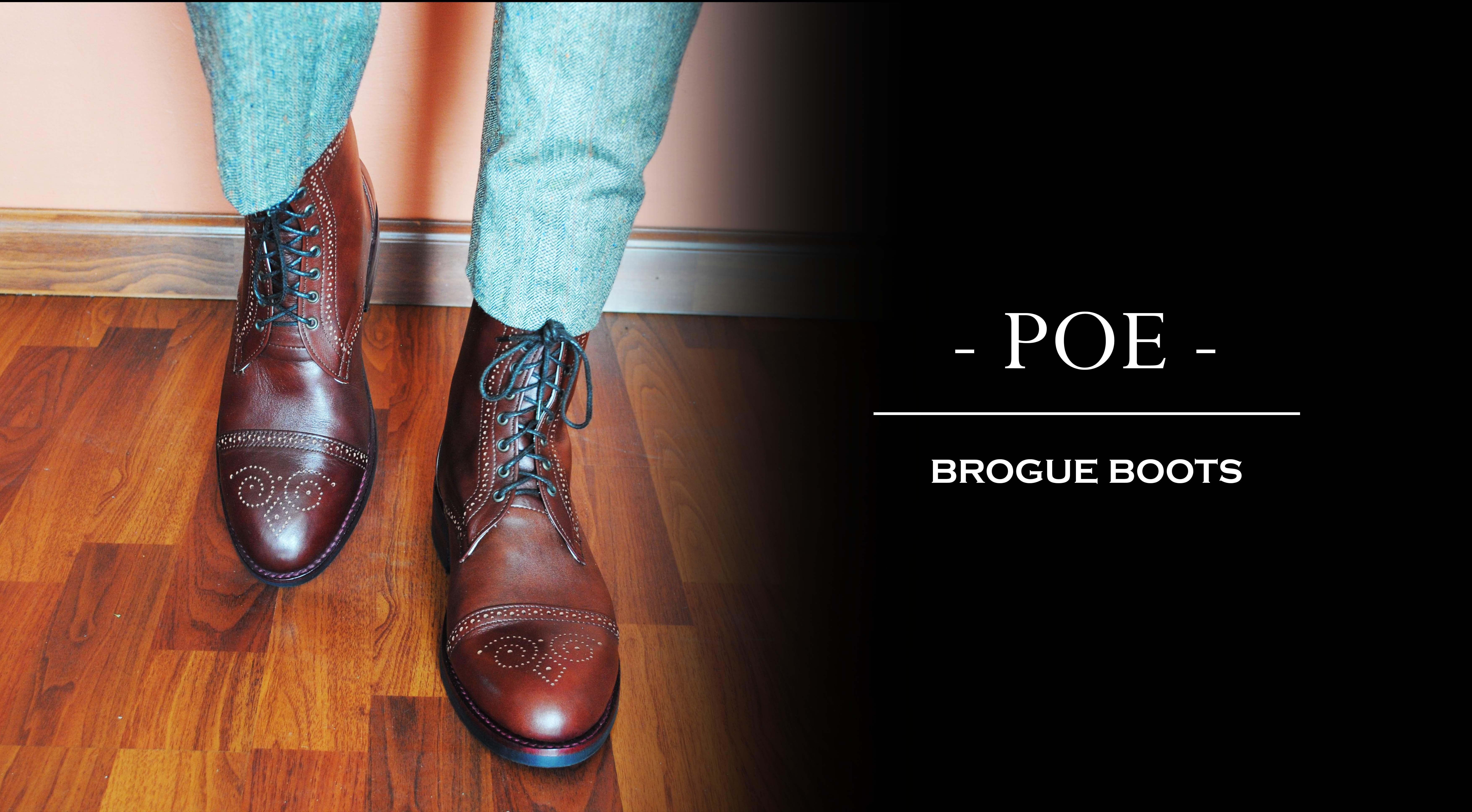 Poe Brogue boots