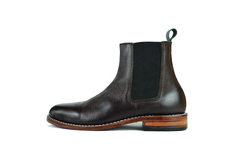 Dark Brown Leather CHEALSEA Boots