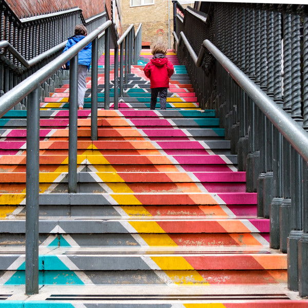 2nd place - Rainbow Staircase, Surrey Street