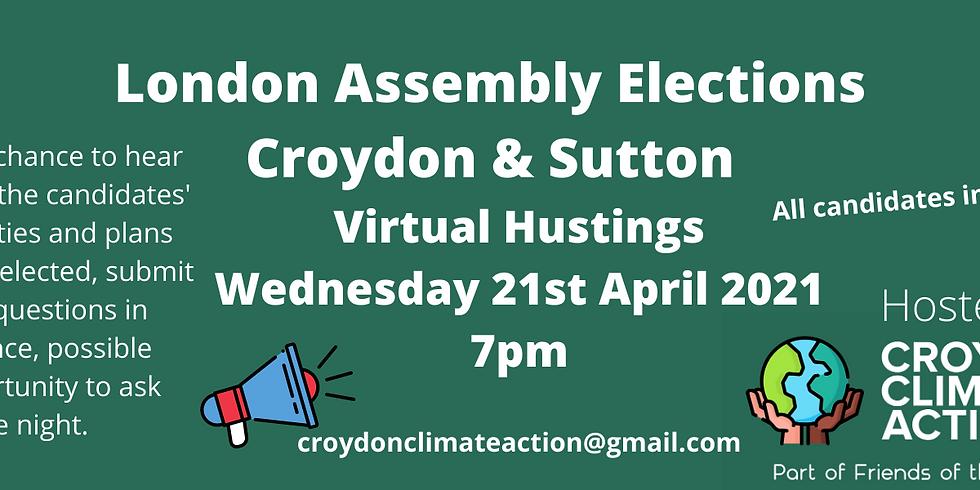 Croydon & Sutton London Assembly Elections Hustings