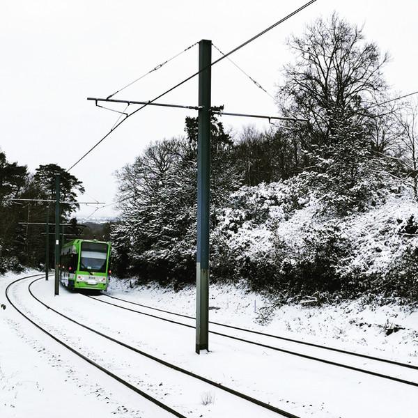 1st place - Quiet Winter Commute: Croydon Trams