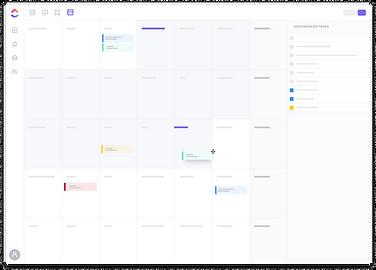 Flat Calendar View Transparent Backgroun