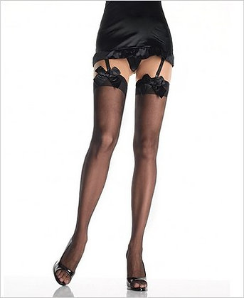 Sheer thigh highs with Satin Bows