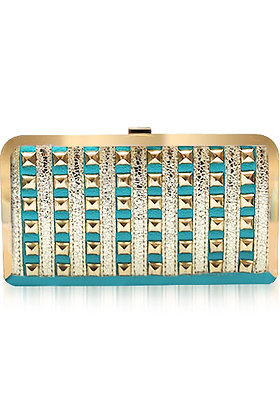 Gold Frame Stud clutch
