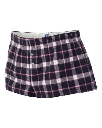 Pink and Black Flannel Shorties