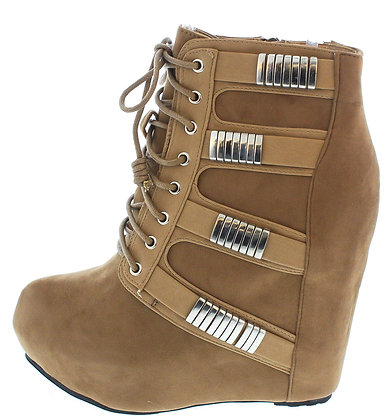 Mercury Taupe Wedge boot