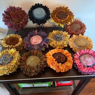 Sunflower heads by Trish Baker