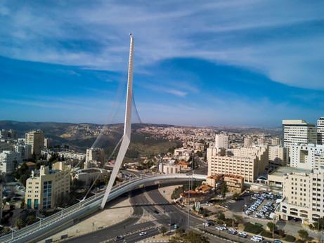 Santiago Calatrava's Jerusalem Chords Bridge   Israel