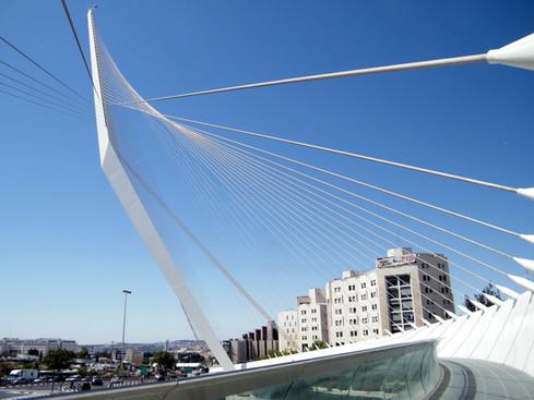 Santiago Calatrava's Jerusalem Chords Bridge | Israel