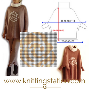 Rose Swoncho Knitting Station