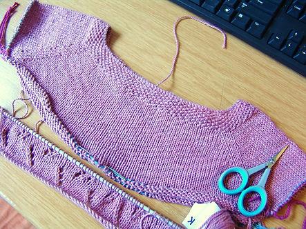 Knitting Station Test Knitting