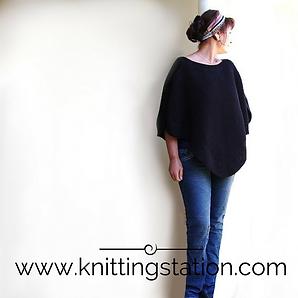 Indie Poncho. Knitting Station