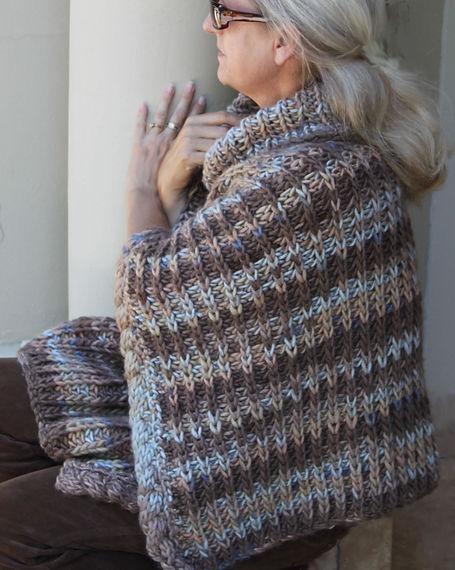 Knitting Station Bronco Poncho Pattern