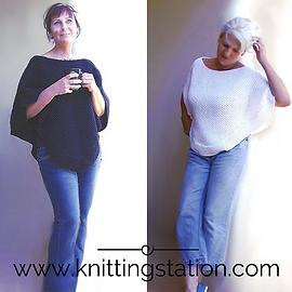 Knitting Station Indie Poncho Pattern