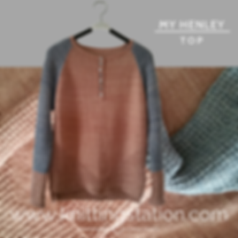 Raglan Top Down Sweater