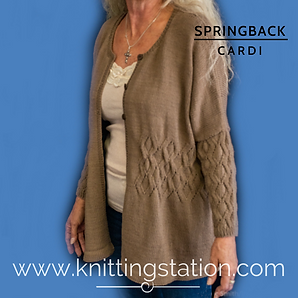 Springback Cardi Knittingstation.com
