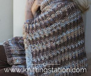 Bronco Poncho Knitting Station