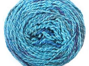 Rewinding yarn.