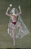 La danseuse à la fleur dédicassée