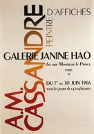 Affiche pour expo AM.Cassandre 1966