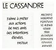 LE CASSANDRE  1968