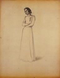 Dessin préparatoire du Portrait de Mademoiselle Chanel