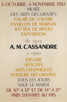 Affiche Litographique 1950