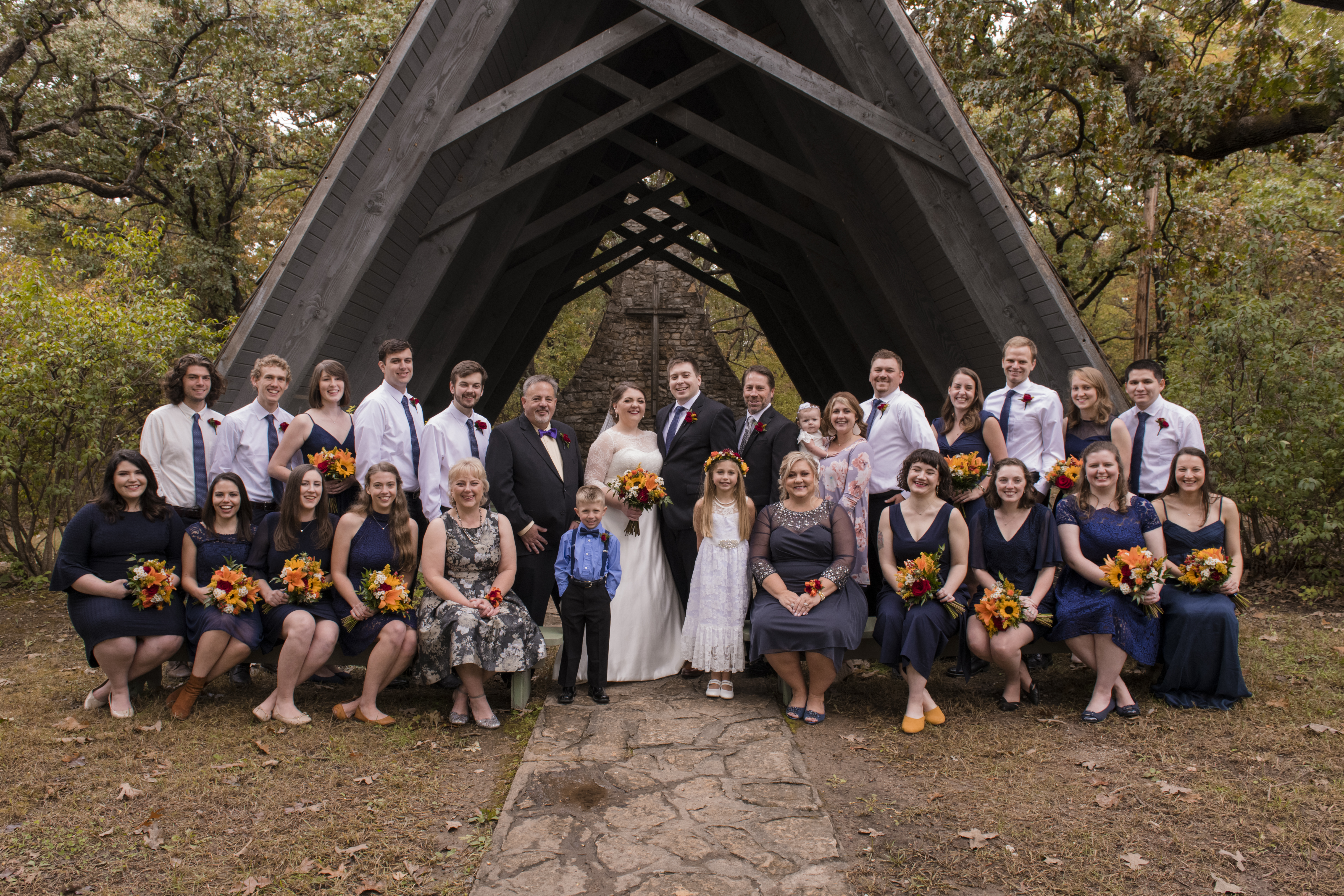 Wedding Party at Tall Oaks
