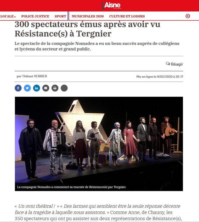 """""""Résistance(s)"""" à l'honneur de la presse !"""