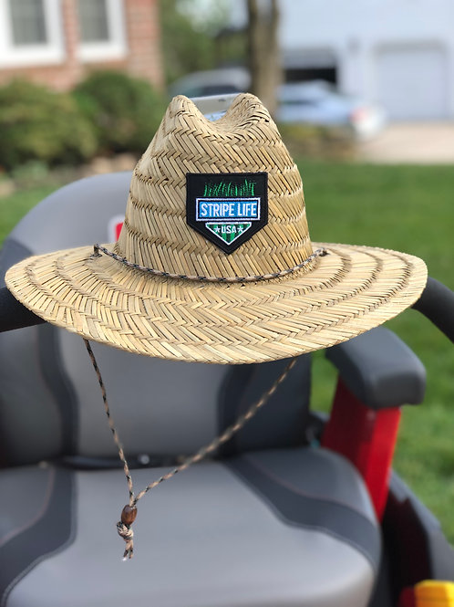 Natural Straw Lifeguard Hat