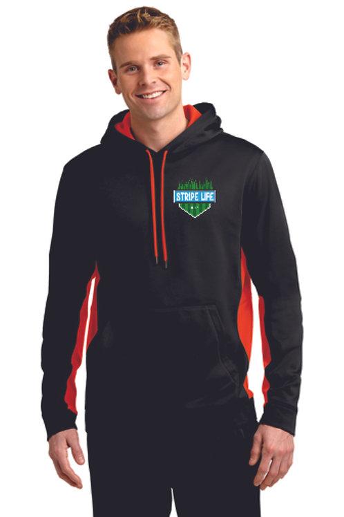 Sport-Tek® Sport-Wick® Fleece Colorblock Hooded Pullover (Embr.) ST235