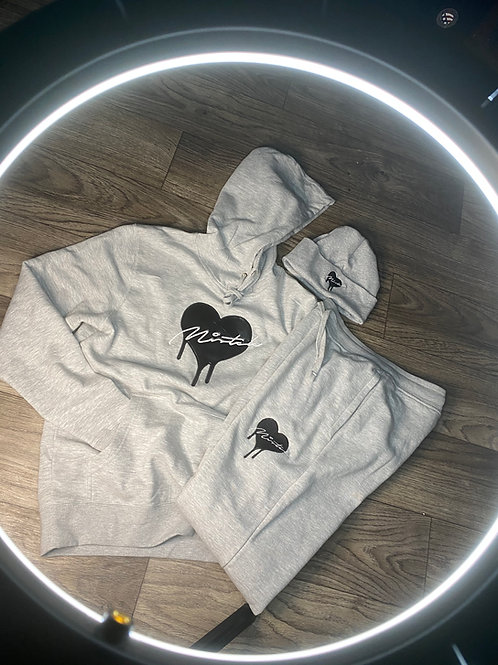 Grey Love Overflow Sweat Suit