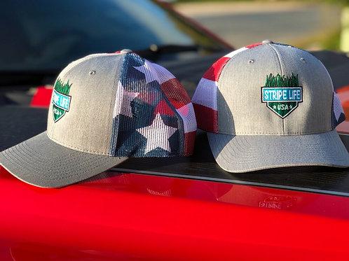 Richardson USA Flag SNap Back Hats -One Size