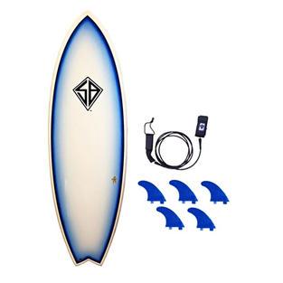 "5'10"" Flying Fish Fiberglass Surfboard"
